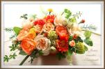 pretty flower特別価格!オレンジバスケット元気ビ
