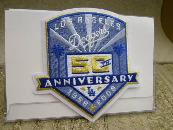 MLB 2008年 ドジャース50周年記念パッチ 送料込み グッズの画像
