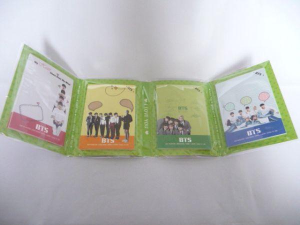 韓国 K-POP☆BTS 防弾少年団☆ 4つ折りメモ帳