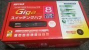 新品 未使用 BUFFALO Giga対応 8ポート スイッチングHub 金属筐体 電源内蔵モデル 1円から