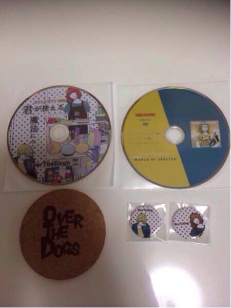Over The Dogs DVD2枚&缶バッチ&コースター overthedogs