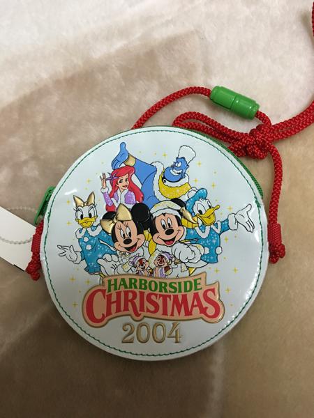 TDS クリスマス限定コインケース パスケース ミッキーミニー アリエル ジーニー ディズニーグッズの画像