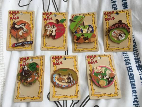ディズニー限定 チップ&デール 7種ピンバッジ ディズニーグッズの画像