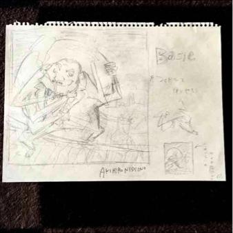 【一週間限定値下げ】キングコング 西野亮廣(にしのあきひろ) 「赤飯」CDジャケット 直筆 ラフ原画 サイン入り