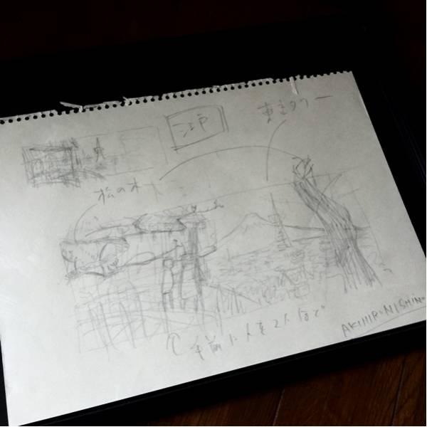 【一週間限定値下げ】西野亮廣(にしのあきひろ) 直筆 サイン入りラフ原画