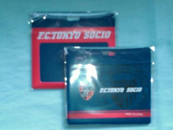 FC東京ソシオのチケットホルダー (ビニール製) サッカー サポーター用 ペアで セット販売のみ グッズの画像