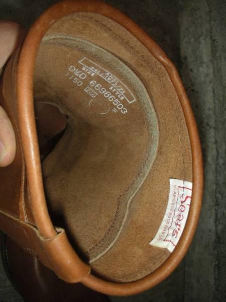 70S デッドストック ビンテージ SEARS チペワ製 ローパー ペコスブーツ / 9.5D_画像2