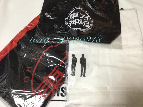 東方神起 1st LIVE TOUR 2006☆公式グッズ トートバッグ フェイスタオル Tシャツ 新品未開封 ライブグッズの画像