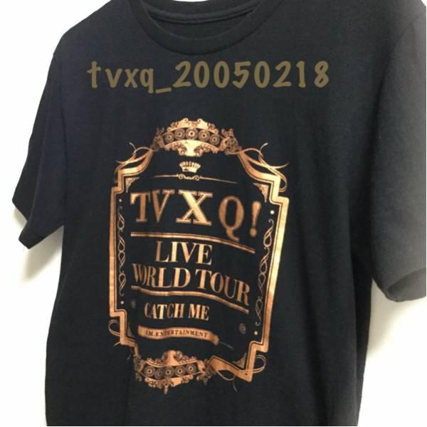 東方神起 LIVE WORLD TOUR CATCH ME 公式 Tシャツ☆サイズ FREE 水通しのみ TVXQ! ライブグッズの画像