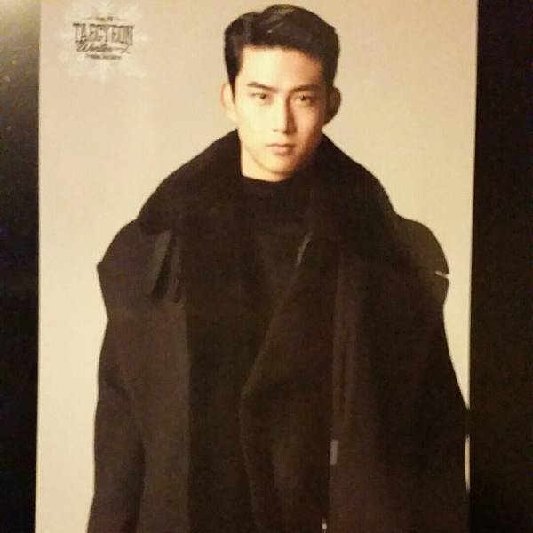 2PM テギョン トレカ winter一人 黒コート トレーディングカード ソロコン カード