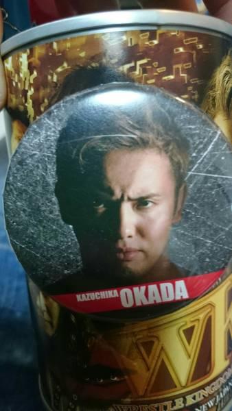 新日本プロレス オカダカズチカ 缶マグネット レインメーカー グッズの画像