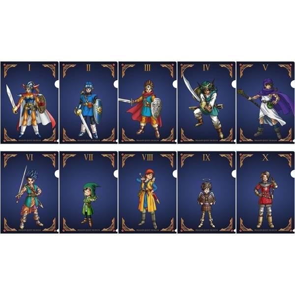 新品未開封 ドラゴンクエストミュージアム 「勇者たちの肖像」クリアファイル10枚セット グッズの画像