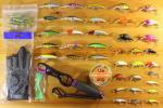 【新品】ルアーなど釣り具40個以上!大量セット フィッシュグリップ付(訳あり)【L06】