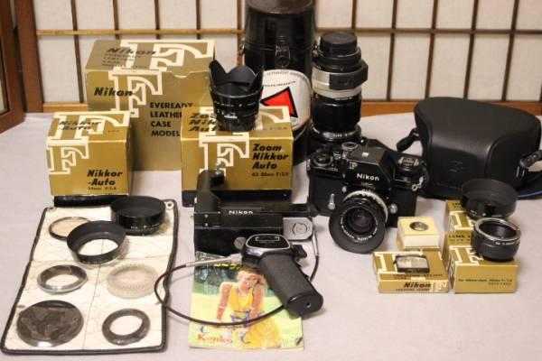 k-572 Nikon  F 一眼レフカメラ レンズなど付属品多数 ブラックボディ アンティーク