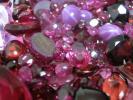 宝石 外し石 ルビー ガーネット ピンクトパーズ 等 赤色 ルース 約103.3gまとめて