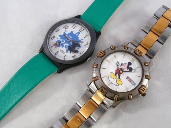 LORUS ローラス BY SEIKO ディズニー WALT DISNEY ミッキー マウス 腕時計 USED&新品同様 2点セット 男性用 1990年代頃 ビンテージウォッチ_画像2