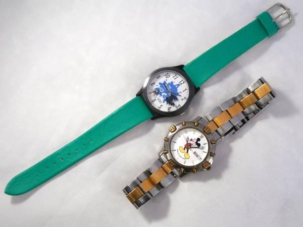 LORUS ローラス BY SEIKO ディズニー WALT DISNEY ミッキー マウス 腕時計 USED&新品同様 2点セット 男性用 1990年代頃 ビンテージウォッチ_画像3