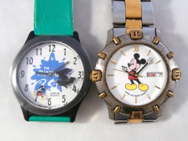LORUS ローラス BY SEIKO ディズニー WALT DISNEY ミッキー マウス 腕時計 USED&新品同様 2点セット 男性用 1990年代頃 ビンテージウォッチ