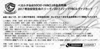 ベガルタ仙台 2017明治安田生命Jリーグ・2017JリーグYBCルヴァンカップ チケット