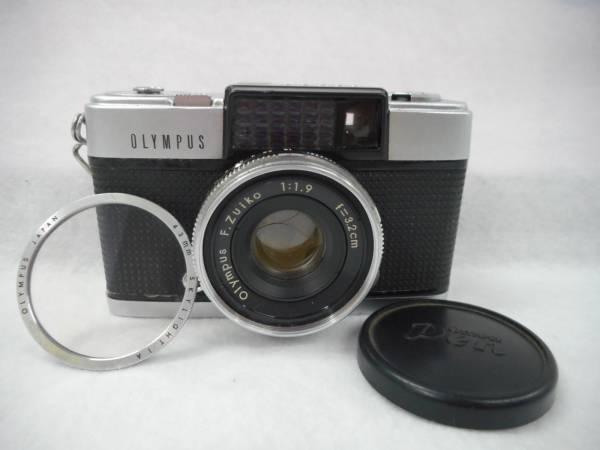 中古品 OLYMPUS オリンパス PEN-D カメラ F.Zuiko 1:1.9 f=3.2㎝ レンズ レンズカバー