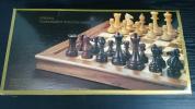 天然木 折りたたみ チェス セット ブナ ウォールナット 木製 西洋 アンティーク 玩具 知育 ボードゲーム