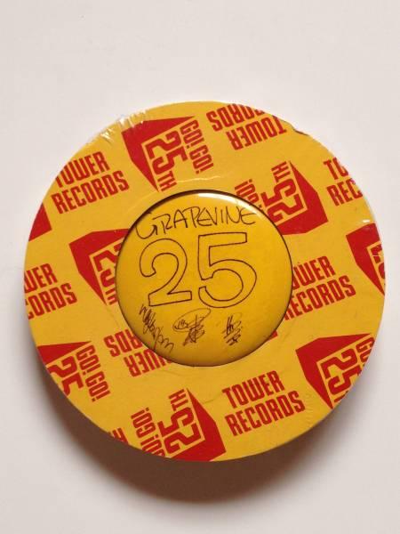 【未使用未開封】タワーレコード 25th 手書きデザイン缶バッジ GRAPEVINE