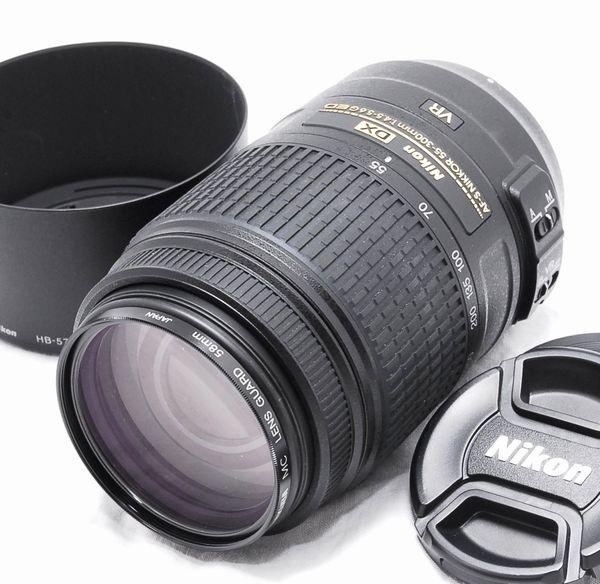 【新品同様の超美品】Nikon ニコン AF-S DX NIKKOR 55-300mm f4.5-5.6 G ED VR