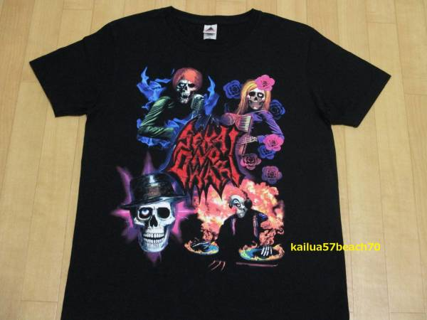 SEKAI NO OWARI 炎と森のカーニバル メタル Tシャツ S 黒 ブラック セカオワ