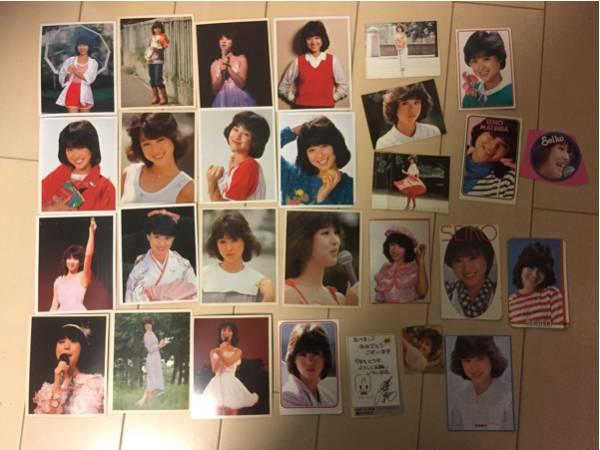 当時物★松田聖子/ブロマイド15枚セット/切り抜きやシールもまとめて★ コンサートグッズの画像