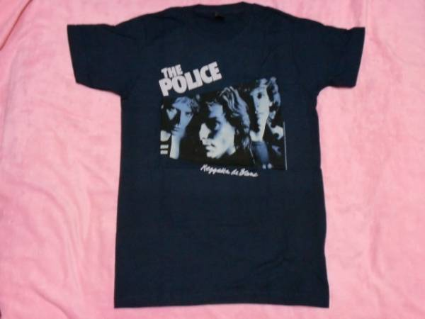 THE POLICE ザ・ポリス Tシャツ S 紺 ロックT バンドT Clash Damned Buzzcocks
