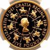 金錢 - イギリス 1993 エリザベス戴冠40周年記念 5ポンド 金貨 NGC PF69UC
