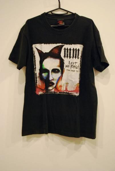 マリリンマンソン バンドtシャツ 古着 90s ヴィンテージ metallica slayer iron maiden nirvana ライブグッズの画像