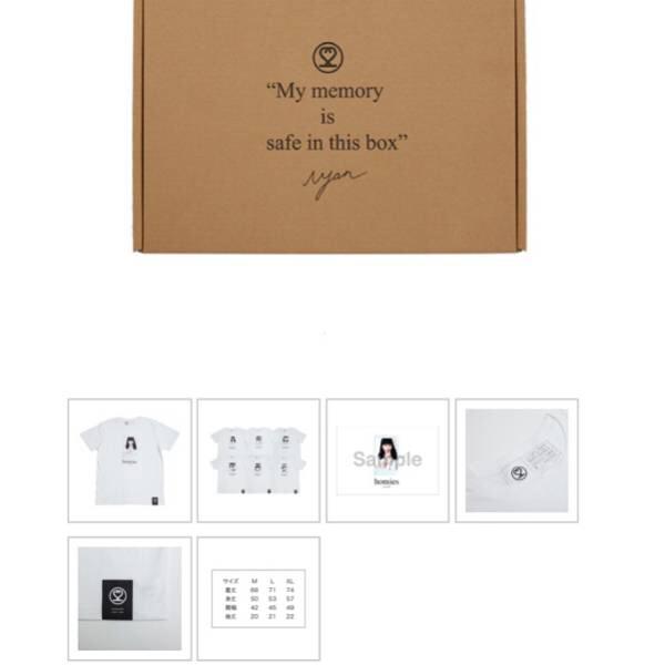 AKB48 小嶋陽菜 Homies 絆BOX Tシャツ6枚 サイン入チェキ sizeM