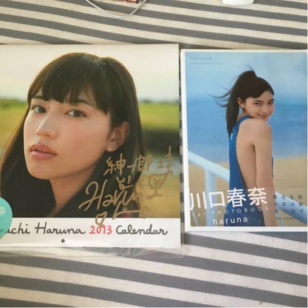 【新品】川口春奈のサイン付き2013カレンダーと写真集