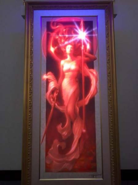 20【S.R】アール・グラージュ 「プロミネンス」 91×34 長野剛 絵画 香川発_画像2