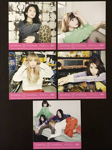 SCANDAL BEST ALBUM 封入特典 ステッカー☆5種セット コンプ☆HARUNA RINA MAMI TOMOMI 4人全員☆スキャンダル ベスト