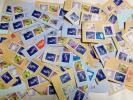 ★日本使用済み切手500円 新書体 伐折羅100枚 紙付き★青バサラ