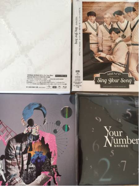 SHINee CD DVDセット Sing Your Song 初回 I'm Your Boy 2014 Blu-ray 新品 why so serious? Your Number