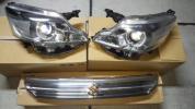 現行 スペーシア カスタム 純正HID LED ヘッドライト左右 LEDグリル ゴールドエンブレム