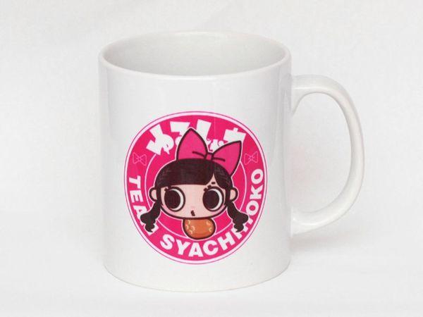 【新品】 しゃちピーマグカップ/ピンク 【チームしゃちほこ】 ライブグッズの画像