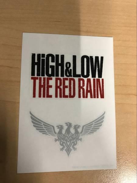 HIGH&LOW THE RED RAINのステッカー   EXILE入場者特典 オリジナルロゴステッカー