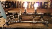 インダストリアル 工業系 卓上型ライト新古物です。エジソンバブル2個とルートロンエレクトロニクス社のライトコントロラー付きです。