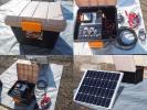 ★防災対策★ソーラー充電対応・オリジナル蓄電システムEセット
