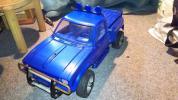 ジャンク 昔の電動ラジコン普通トラック 3段ギヤ変速です