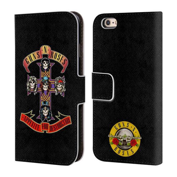 Guns N' Roses 限定 iphone6/6sレザー手帳型ケース オフィシャル正規品 ガンズアンドローゼス スラッシュ