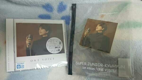 SUPERJUNIOR KYUHYUN キュヒョン ONE VOICE CD[初回盤] 限定ふせんメモ付きスライダーケース+チケットホルダー ライブグッズの画像