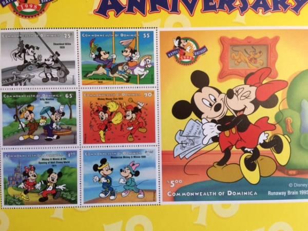 ミッキーミニー70周年☆アニバーサリー切手シート ディズニー