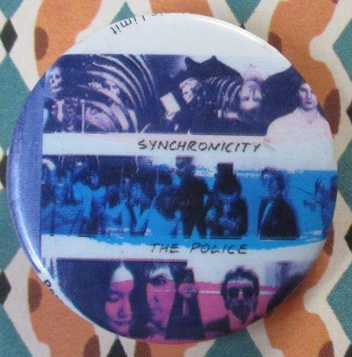 ポリス シンクロニシティー POLICE Synchronicity 1983 1980年代 80's 海外 ビンテージ 缶バッジ 3.2cm