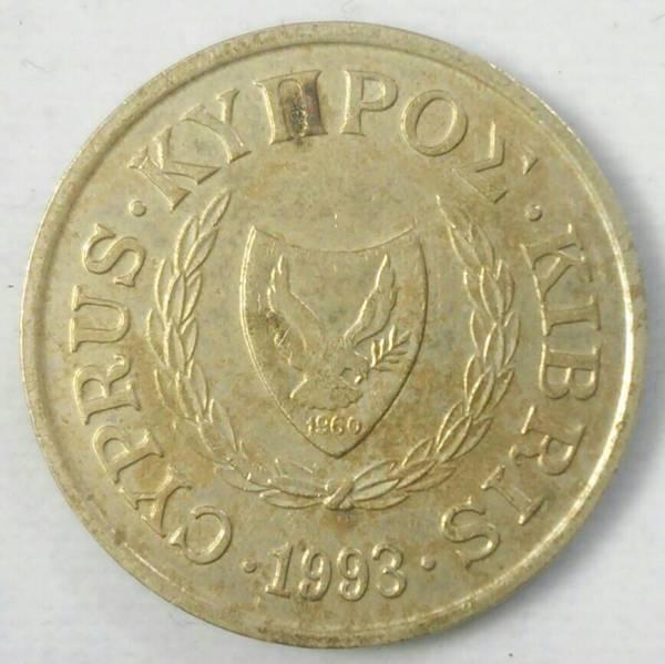 【キプロス】10セント硬貨 1993年 約24.5mm_画像2