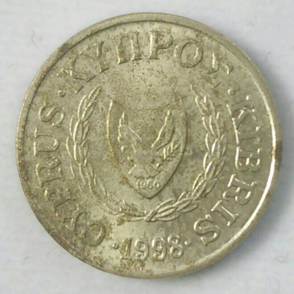 【キプロス】1セント硬貨 1998年 約16.5mm (1)_画像2